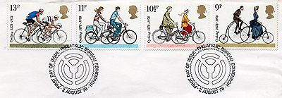 GB = 1978 `Cycling` set/4 on piece. V.F.Used (ex-FDC) (b)