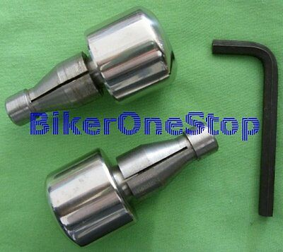 BEWHEAVY - HEAVY Stainless Steel Handlebar BAR END WEIGHTS - 22mm