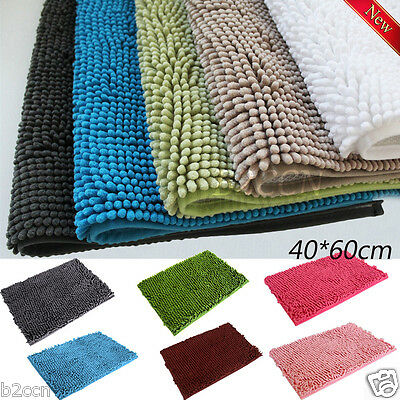 HOT Memory Foam Microfibre Bath Mat Shower Rug Bathroom Anti Slip Carpet 40*60CM