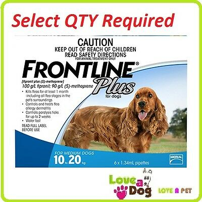 Frontline Plus flea/tick treatment For Medium Dogs 10-20kg EXPIRY 2020
