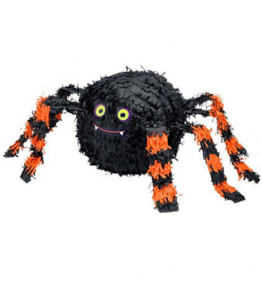 28CM TALL SPIDER HALLOWEEN PARTY PINATA Traditional Party Game Decoration P19717