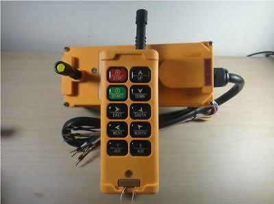 12-415V  1 Tansmitter 10 Channels Industrial Wireless Crane Hoist Remote Control