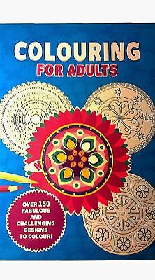 Creative Therapy Jumbo Colouring Book Adults De Stress Over 150 Designs RRP 7.99