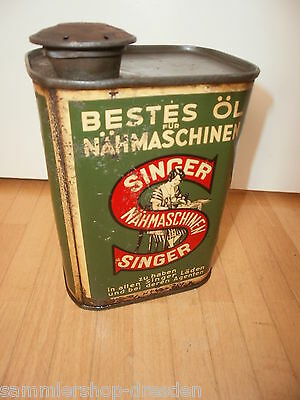 18093 Ölkanister Singer Nähmaschinen Nähmaschine 16cm tin can Sewing machine oil
