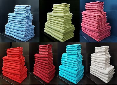 Pack of 10 Towel Set 100% Egyptian Towels Cotton Home Hotel Face Hand Bath Towel