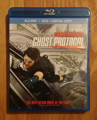 Mission: Impossible - Ghost Protocol (2011) Like New Blu-ray + DVD Tom Cruise
