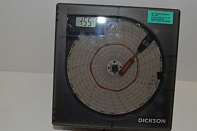 "Dickson KT625 6"" temperature chart recorder calibrated"