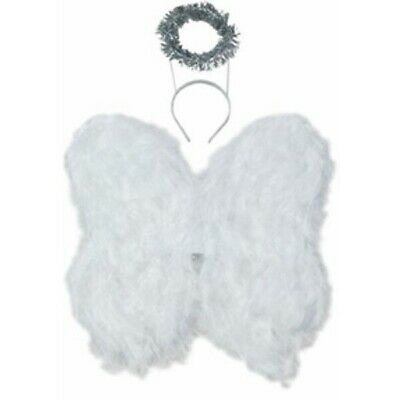 Feather Angel Wings with Halo
