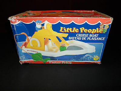 UNOPENED RARE Vintage NEW Fisher Price Little People Cruise Boat Box Set 2524