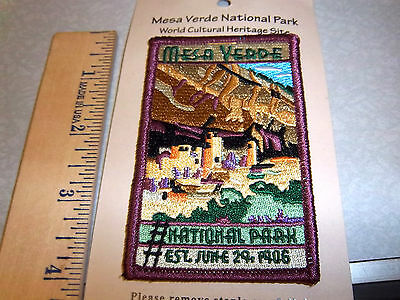 Mesa Verde National Park Colorado Beautiful Embroidered patch, NEW