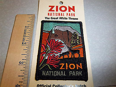 Zion National Park Utah, Beautiful Embroidered patch, the great white throne NEW