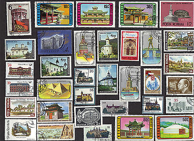 75 Architecture On Stamps