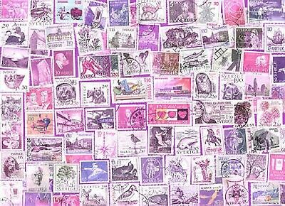 100 Diff Sweden Pictorial & Commemorative Stamps