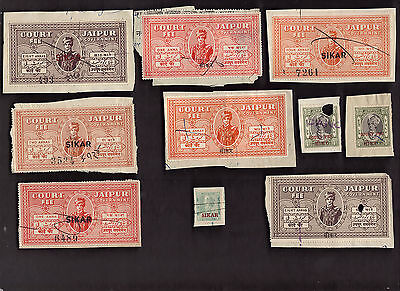 10 SIKAR (INDIAN STATE) Stamps