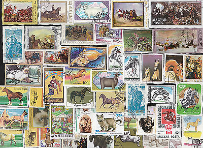 200 All Different Domestic Animal Stamps