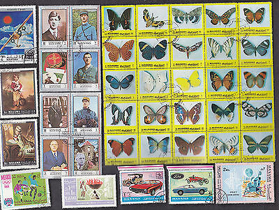 100 All Different  Manama Stamps