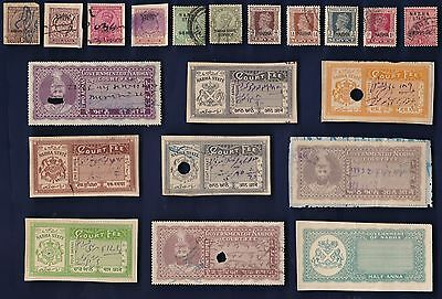 20 All Different NABHA (INDIAN STATE) Stamps