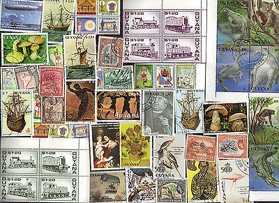 100  All Different BRITISH GUIANA / GUYANA Stamps