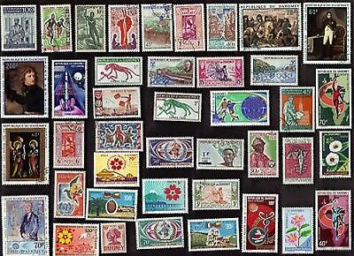 75 All Different DAHOMEY Stamps