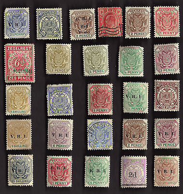 25 All Different TRANSVAAL STAMPS
