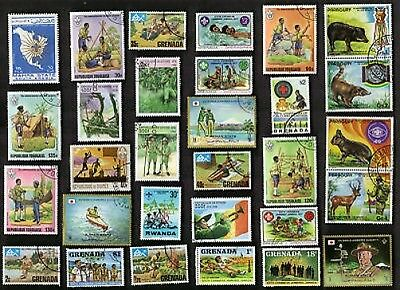 75 All Different SCOUTS & SCOUTING  on Stamps