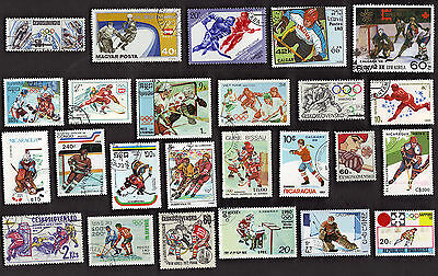 25 All Different Ice Hockey On Stamps