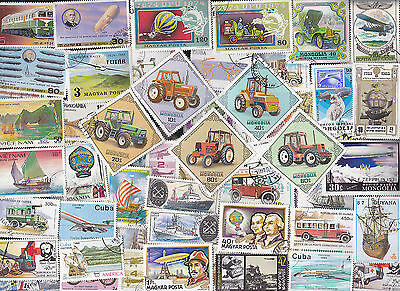 300 All Different Transportation Stamps