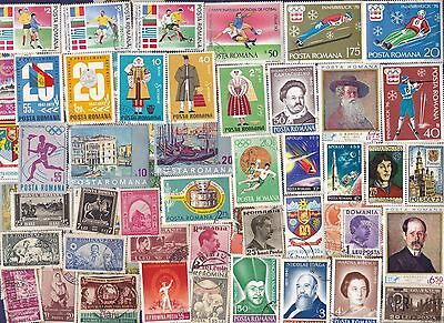 800 All Different Romania PICTORIAL & COMMEMORATIVE Stamps