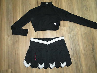 Sexy Cheerleader Uniform Outfit Crop Top Skirt Fly Away Pleats Adult M Large