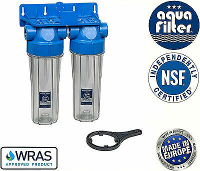 "10"" Double Twin Water Filter Housing 1"" / Biodiesel & Vegetable Oil"