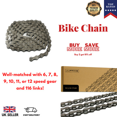 NEW Bicycle Chain 5 , 6 , 7 Speed Gear Mountain bike road hybrid Cycle BLACK