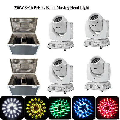4pcs/lot 230W 7R beam White body Osram Sharpy 7r moving head Light + fly case