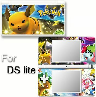 Pokemon SKIN DECAL COVER STICKER for Nintendo DS lite