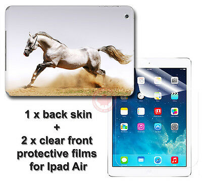 White Horse Arts SKIN STICKER COVER and 2 protected films Apple for iPad Air