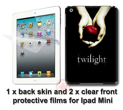 Twilight SKIN STICKER DECAL COVER and 2 front protected films for iPad Mini
