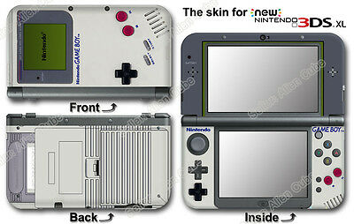Original GAME BOY Classic Edition SKIN STICKER COVER #2 for NEW Nintendo 3DS XL