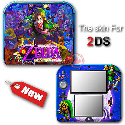 Legend of Zelda Majora's Mask SKIN STICKER COVER DECAL for Nintendo 2DS