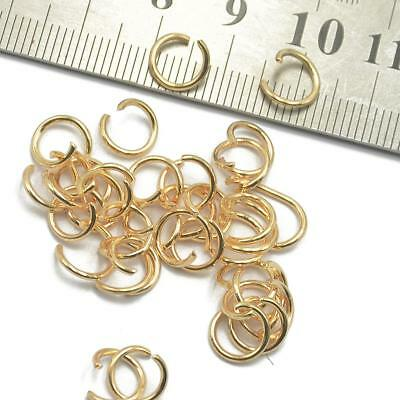 400 Gold Plated Jewellery Open Jump Rings Findings Craft Connector Beading