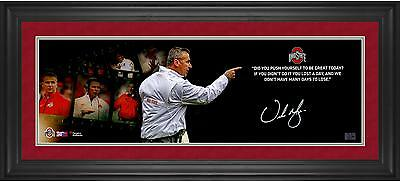Autographed Urban Meyer Ohio State 10x30Photo Item#6452589