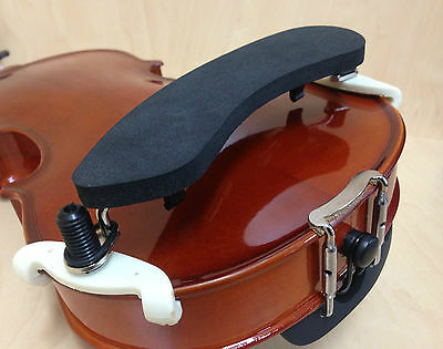 Economy Model Violin Shoulder Rest for 4/4, 3/4 Size Violin, Black – Adjustable