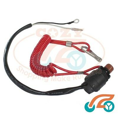 Outboard Lanyard Kill Safety Stop Switch for 2 stroke 6-40hp engine 6E9-82575-09