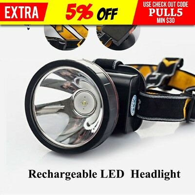 30000 Lumens Rechargeable LED Headlight Headlamp Camping Fishing Outdoor AU Ship