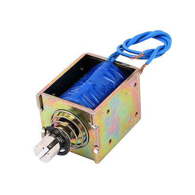 DC24V 2A 10mm 60N Spring Load Push Pull Actuator Electromagnet Solenoid JF-1520B