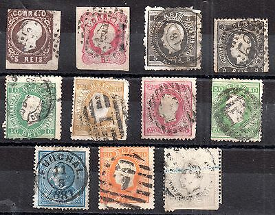 Portugal 1862-1870 unchecked collection (11v) WS871