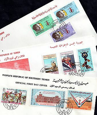 Southern Yemen 1970-71 5 x First Day Covers (FDC) WS873