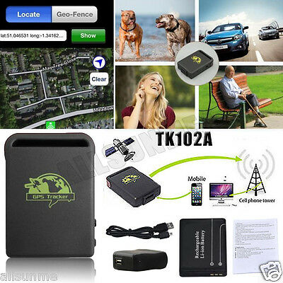 TK102A Mini Vehicle GSM GPRS GPS Tracker Car Personal Real-Time Tracking Locator