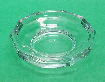 Vintage Val St. Lambert Clear Crystal 10 Sided Nut Dish