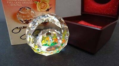 Swarovski Crystal Commemorative Paperweight 1900-1990 Queen Mother