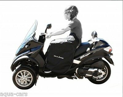 Tablier protection pluie Sline Scooter Piaggio MP3 125/300/400 Touring et Urban