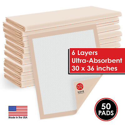 "50 Ultra Heavy 30""X36"" Thick Adult Disposable Medical Chair Bed Pads Underpads"